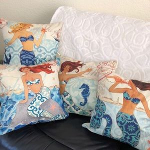 Other - Set of 4 Brand New Mermaid 18 in by 18 in Pillows